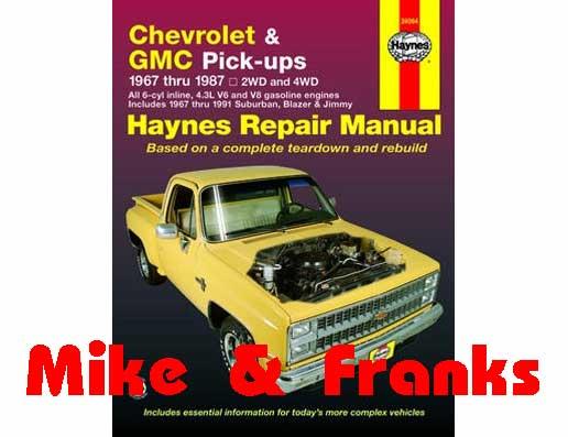 Reparaturanleitung 24064 Blazer/Suburban/C/K10-30 Pickup 69-91, M&F ...