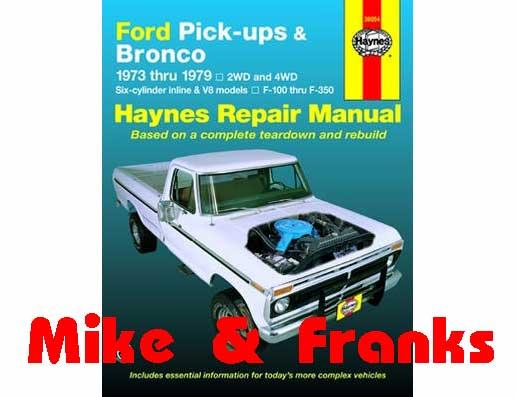 Reparaturanleitung 36054 F100-350 Pick Up & Bronco 73-79, M&F Online ...