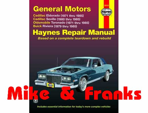 Reparaturanleitung 38030 Buick Riviera 1979-85 Frontantrieb, M&F ...